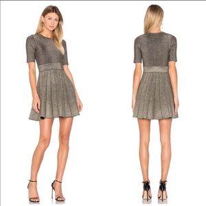 A.L.C. Susana pleated metallic dress